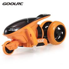 Goolrc QF100 2CH RC Motorcycle Drift Motorcycle Stunt Car Gifts for Children Radio Control Toys RC Motorcycle