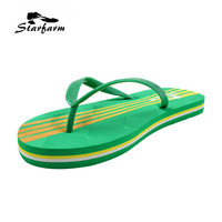 2016 New Summer Woman Shoes Flat Sandals Flip Flop Size 5 6 5 8 Green And