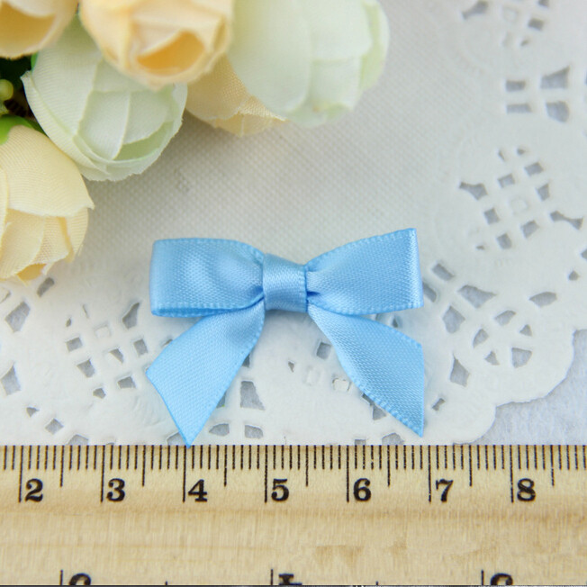 500pcs lot Light Blue Birthyday Mini Candy Bows Small Gift Bows Free Shipping