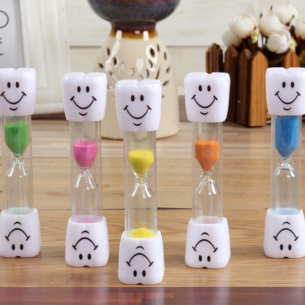 Child Role play Game activity Timer Children 3 Minute Sand Smiley Face Teeth Brushing Timer n# dropship