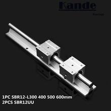Линейный рельс 12 мм SBR12-300 400 500 600 мм 1 шт. линейный руководство SBR12 + 2 шт. SBR12UU блоки для ЧПУ