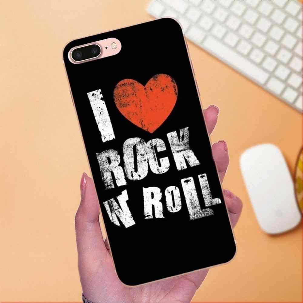 Yumuşak TPU cep telefonu Kılıfı Aşk Rock Roll Için Huawei Mate 7 8 9 10 20 P8 P9 P10 P20 P30 lite Artı Pro 2017