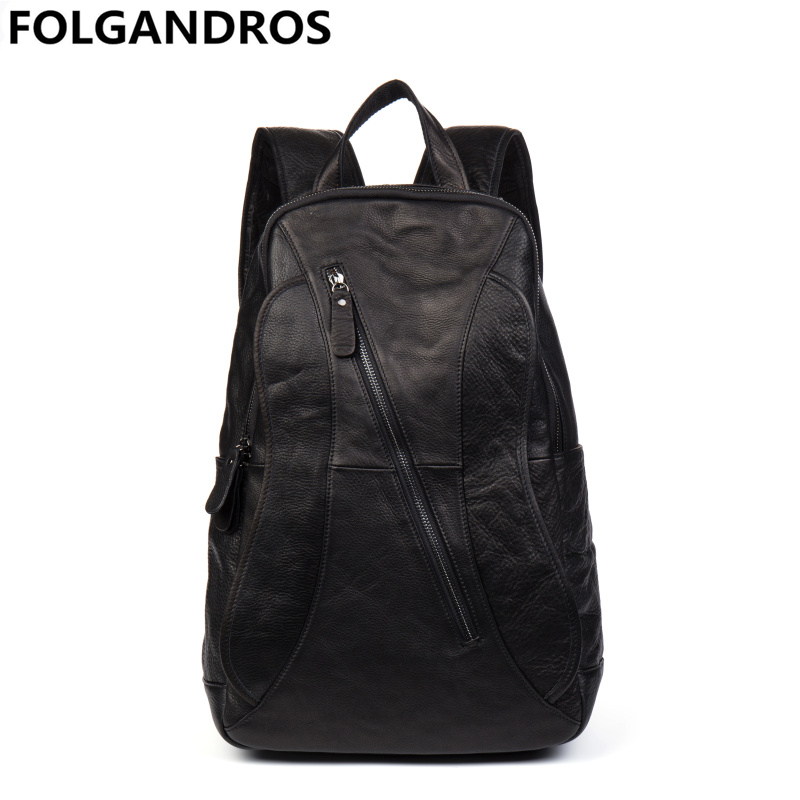 New genuine leather backpacks men women designer school student backpack brand casual soft cowskin computer notebook bag bolsos