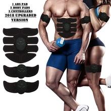 Electric Muscle Stimulator Training Machine Abdominal Trainer Body Slimming Burning Exerciser Building Massager