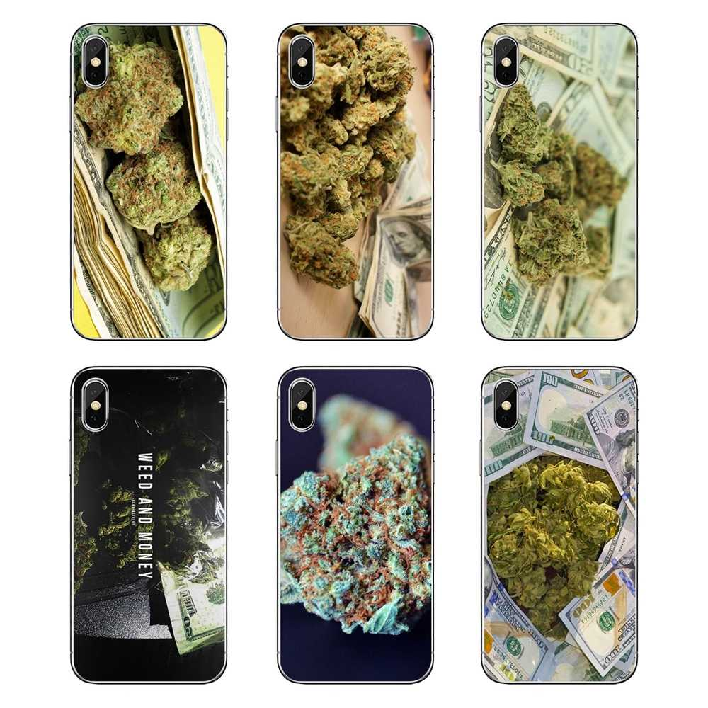 For iPod Touch iPhone 4 4S 5 5S 5C SE 6 6S 7 8 X XR XS Plus MAX Drug Dealer Money Weed Art Soft Transparent Cases Covers