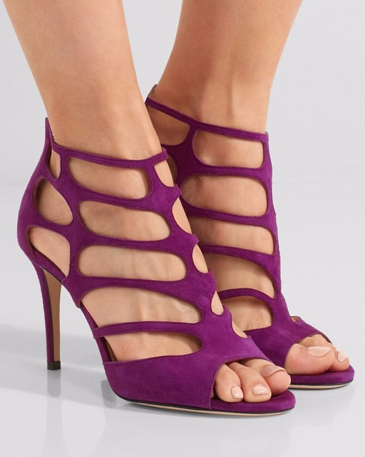 a14b398fd92c 2017 summer most popular women sandals purple and red color women shoes  cutout as its character stiletto high heel women shoes