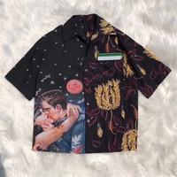 Women Blouse Top Autumn Short Sleeve Blouse Women 2018 Fashion Print Blouse Tops