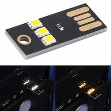 Mini USB Power LED Light  ultra low power  2835 chips Pocket Card Lamp Portable Night Camp free shipping