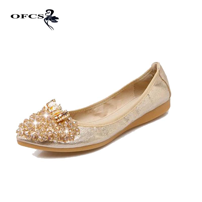 OFCS Women Casual Shoes Lady Egg Roll Foding Flats Female Ballet Flats Shoes Woman Fashion Slip On Shallow Flats Loafers Shoes 2017 summer new fashion sexy lace ladies flats shoes womens pointed toe shallow flats shoes black slip on casual loafers t033109