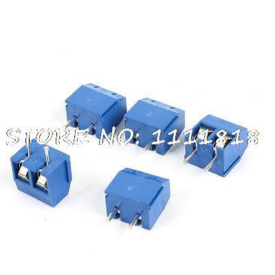 5 Pieces 2Pin 2P Screw Terminal Blocks Connectors 16A 300V Blue for PCB Board 3 pin 5 0mm terminal blocks connectors blue 20 piece