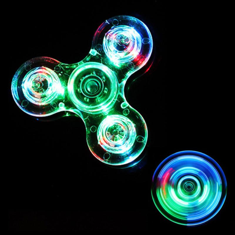 Transparent-Crystal-Plastic-LED-Light-Hand-Spinner-Crystal-Luminous-Fidget-Spinner-Led-EDC-For-Autism-Focus