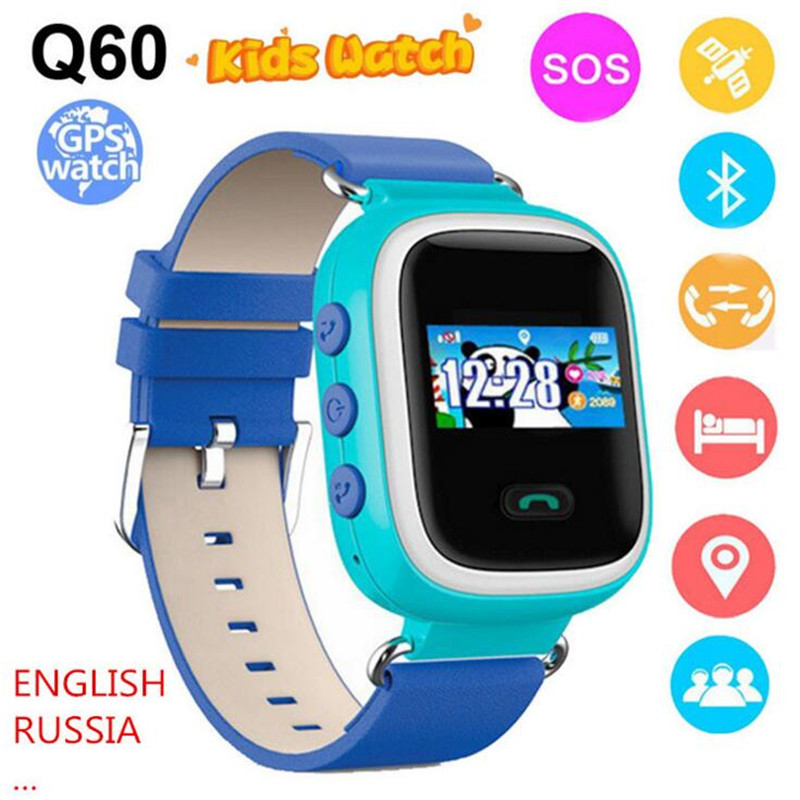 Kids GPS Smart Watch Q60 Wristwatch SOS Call Location Finder Locator Device Tracker Safe Anti Lost Monitor Baby Christmas F10 smart baby watch каркам q60 голубые
