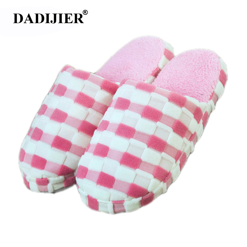2018 New Warm Women slippers Cotton-padded anti-slip at house Family Home Slippers stripe Autumn Winter indoor shoes ST303 millffy 2018 new summer sweet ladies shoes pink girl home slippers cotton indoor slip on knot stripe slippers