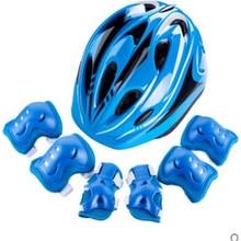 купить Roller skating protective gear children bicycle helmet set skateboard roller skates balance car shatter-resistant sports дешево