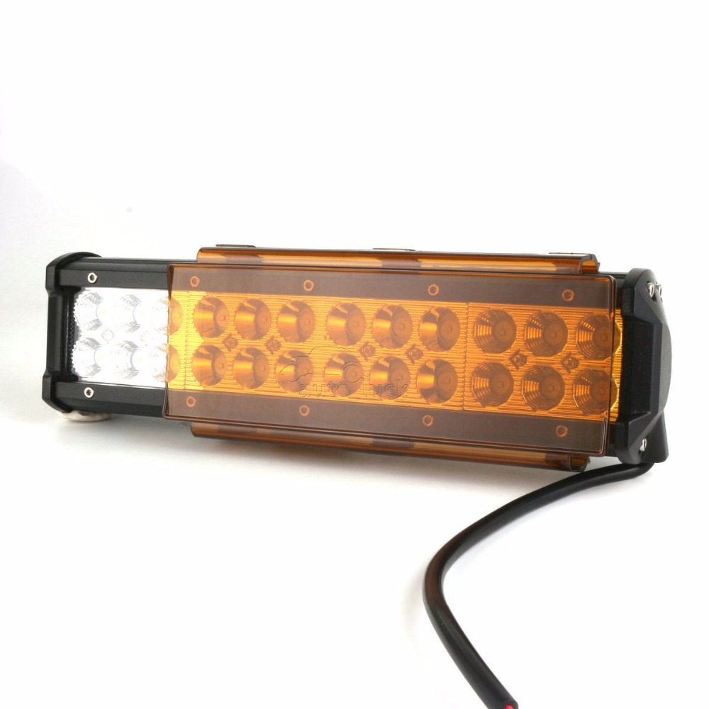 6 inch 8inch Amber Protective Covers Double Row LED Light Bar Change Color Rainy Foggy Driving 12 20 22 32 42 50 52 54 image