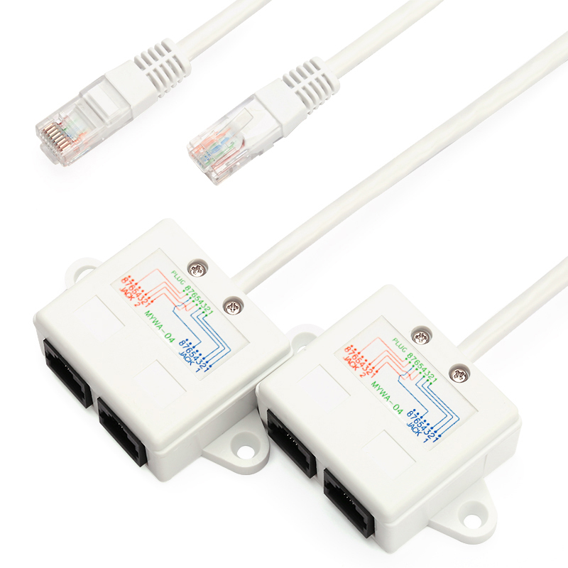 BELNET RJ45 connector network cable splitter Ethernet splitter internet cable splitter two PC share one cable simultaneously