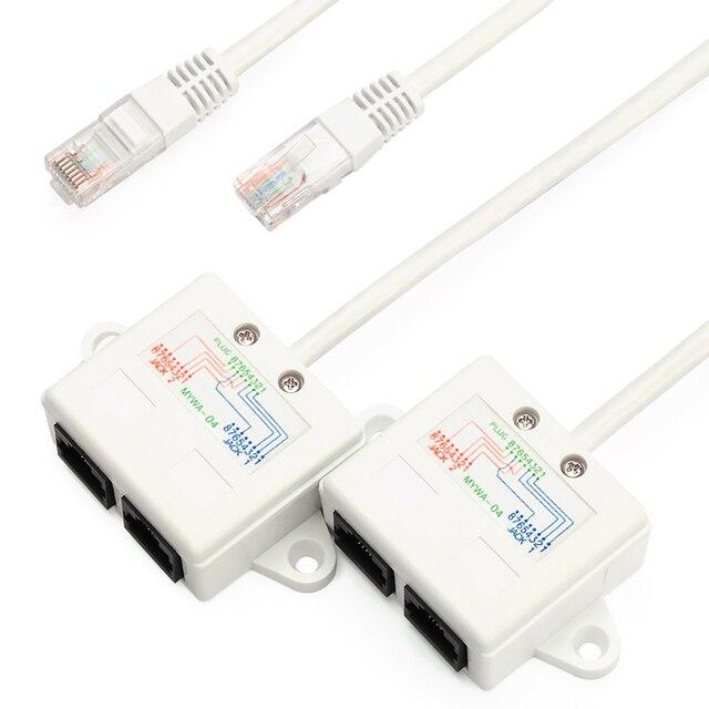 BELNET RJ45 connector network cable splitter Ethernet splitter ...