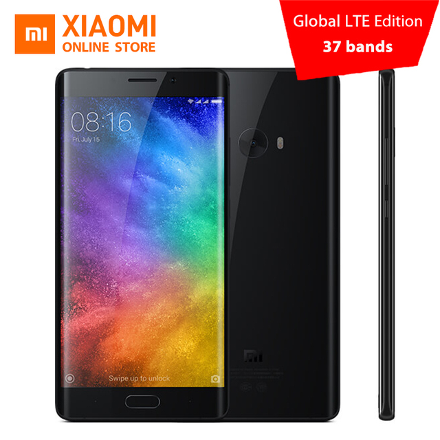 Global edition Xiaomi Mi Note 2 Prime 6GB RAM 128GB Mobile Phone Snapdragon 821 Quad Core 5.7inch Fingerprint ID NFC 22.56MP cam
