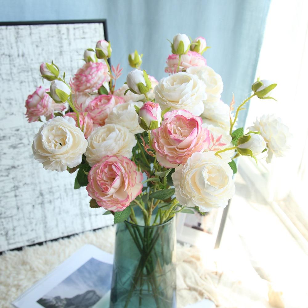 6 Foam Glitter Roses 5.5 cm Stunning Flower Bouquet Table Decoration Xmas