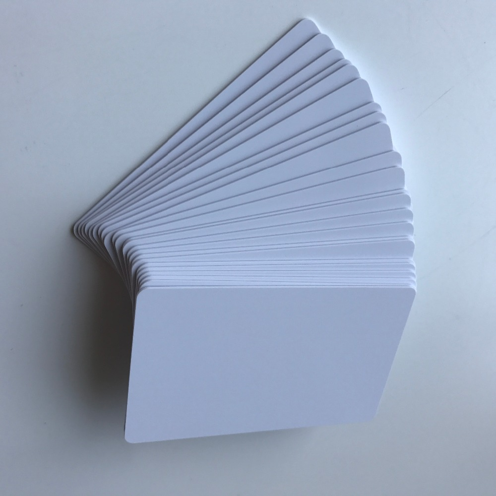 230pcs lot inkjet printable Matte finish plastic blank pvc card for school card ID card membership