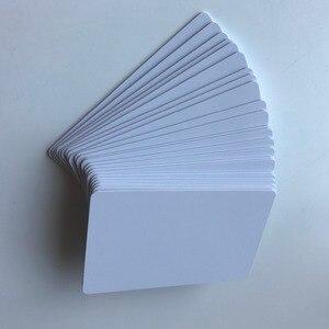 Image 1 - 230 sztuk do druku atramentowego matowe wykończenie plastikowe puste karty pcv do szkoły karty/dowód osobisty/drukowanie karty członkowskiej przez Epson lub Canon