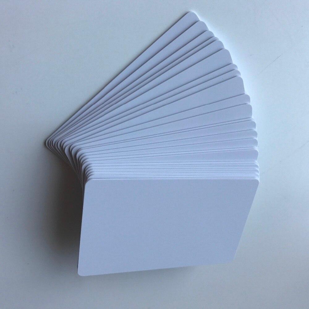 230 teile/los inkjet druckbare Matte finish kunststoff blank pvc karte für schule karte ID karte mitgliedschaft karte druck von Epson oder Canon-in Visitenkarten aus Büro- und Schulmaterial bei  Gruppe 1