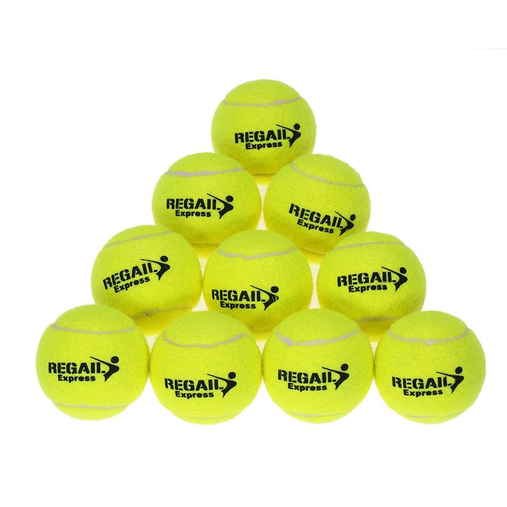 10pcs/bag Durable Rubber Training Tennis Balls For Children Women Tennis High Resilience Training Exercise Practice Tennis Ball