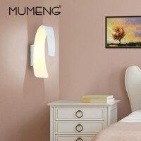 MUMENG Modern Simple Wall Lamp LED Aluminum Light Corridor Aisle Hotel Bedroom Bedside Lamp COB Lighting