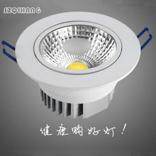 Hot Sale High Quality COB Dimmable Hight Light 10W LED Downlights,LED Recessed light,LED Ceiling lamp Indoor  Free Shipping