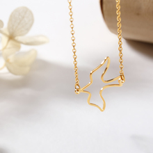 Peace Dove Pendant Necklace Stainless Steel Pigeon Gold Chain Fashion Simple Metal Jewelry Accessories For Women Men