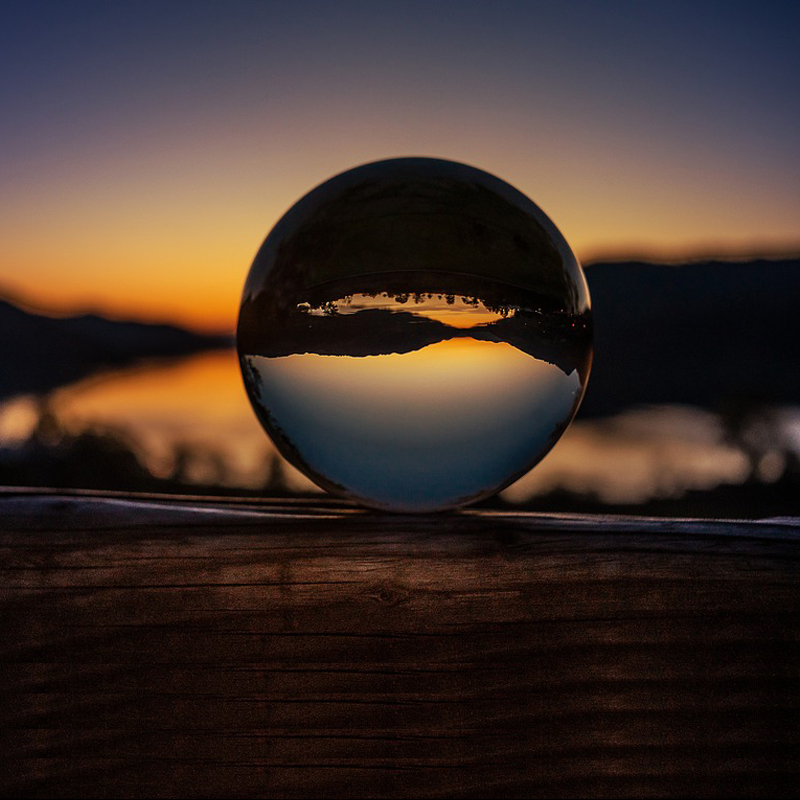 """Crystal Clear Lens Ball Crystal Sphere Ball 50mm 80mm With Stand 2"""" Photography Lensball Background Decor K9 Glass Crystal"""