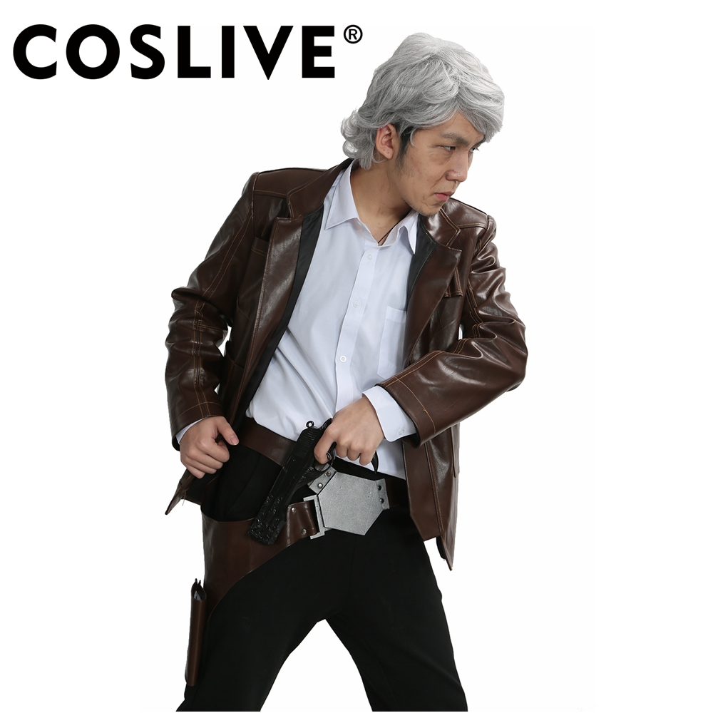 Coslive Han Solo Belt Star Wars The Force Awakens Cosplay Costume PU Holster Belt Props Adjustable For Men Adult