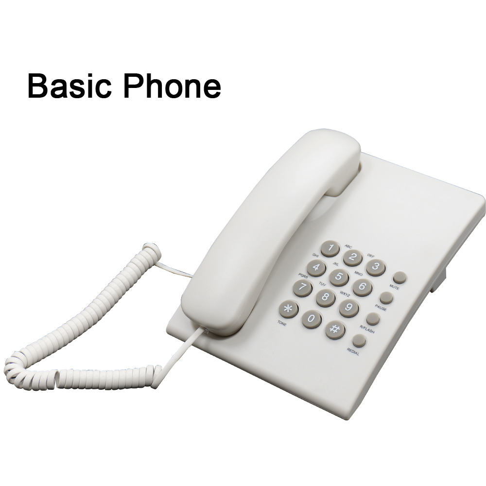 Basic cored analog phone PA146 for office / store / bank /school / hotel