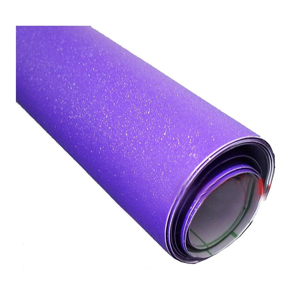 Matte Glitter Vinyl Wrap Sticker Decal Sheet Bubble Free Film Purple