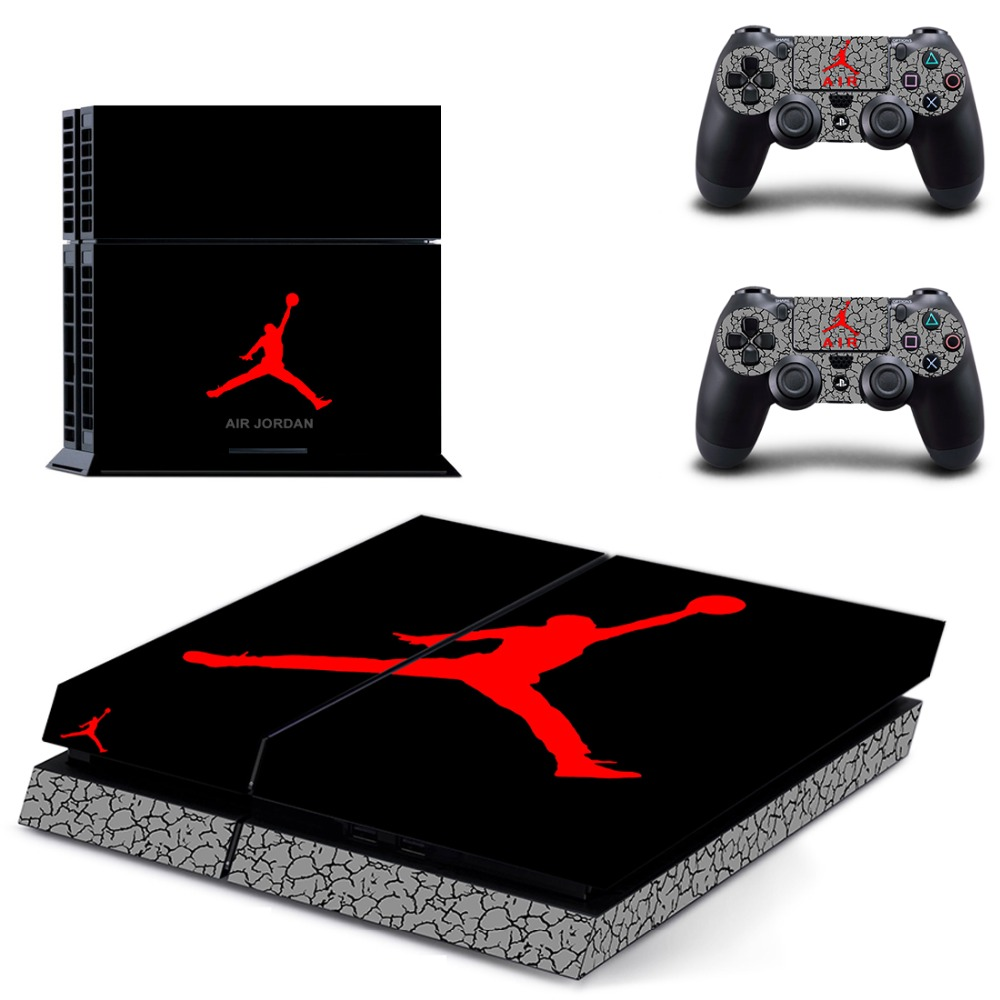 PS4 Vinyl Skin Air Man: Jordan Decals PS4 Console Skin And Two Controller Sticker For Sony For Playstation 4 Stickers(China)