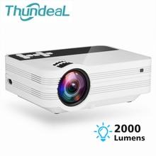 ThundeaL мини-проектор UB10 Android WiFi 3D светодиодный проектор 2000 люмен ТВ домашний кинотеатр LCD видео USB VGA поддержка 1080 P HD мультимедийный проектор