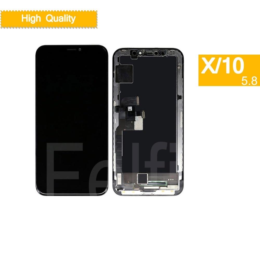 10 pcs DHL LCD complet Pour iphone X Affichage Écran Tactile Digitizer Remplacement Assemblée Complet pour iphone 10 Dix lcd remplacement