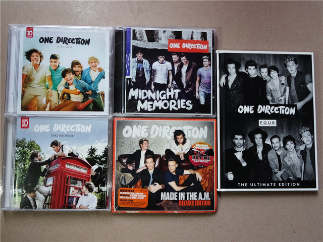 US $41 99 |One Direction 5CD Made In The A M +Take Me Home+Four+Midnight  Memories+Up All Night-in CD/DVD Player Bags from Consumer Electronics on