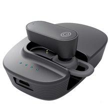 Car Bluetooth 5.0 Earphone Handsfree Earphone Music Headset Car Solar Bluetooth Headset Mini with Charging Compartment цены