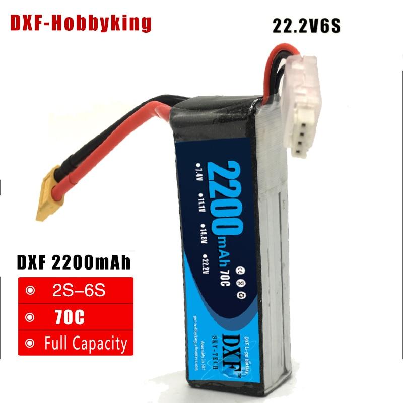 DXF lipo batería 22.2 V 2200 mAh 70 C Max 140 C RC LiPo batería - Juguetes con control remoto