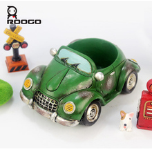 Roogo سيارة زهرة وعاء المزارعون داخلي الراتنج حديقة 11 نمط صغيرة عصاري خطة وعاء في الهواء الطلق ديكور المنزل الحديث التماثيل