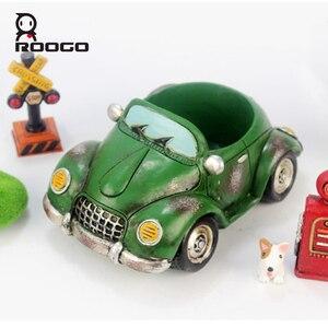 Image 1 - Roogo 자동차 꽃 냄비 재배자 실내 수지 정원 11 스타일 작은 즙이 많은 계획 냄비 야외 현대 가정 장식 인형