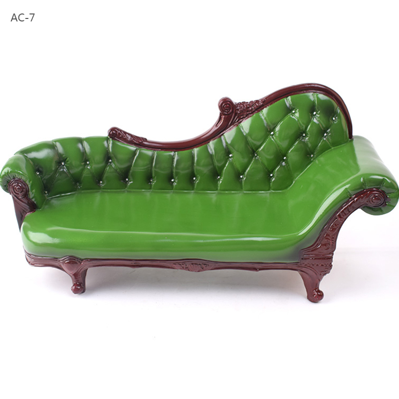 KUMIK AC 7 Model Toys 1/6 Scale Green Long Armchair PVC