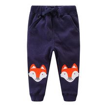 Kids Cartoon Sweatpants Boys Pants Cotton Trousers Clothes Character Cars Fox Print