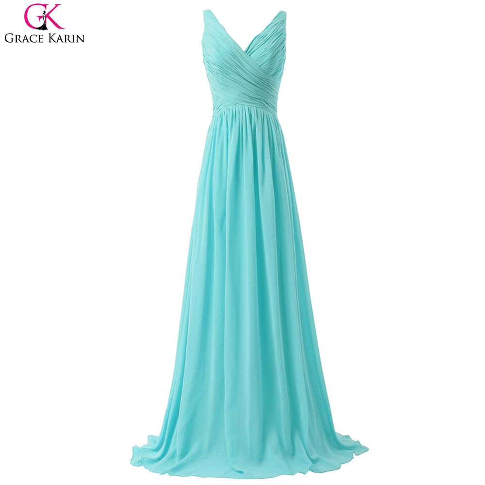 Grace Karin Aqua Blue Bridesmaid Dresses Blush Pink Red ...