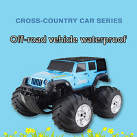Jeep Amphibious Big Wheel Car Remote Control Off road Vehicle Amphibious Waterproof Remote Control Car Children\'s Toy