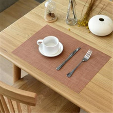 Modern Style 4/6/8/10pieces Set Tableware Mats Pads Kitchen Table Mats PVC Table Napkin Decorative Placemats for Dining Table