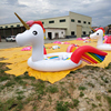Colored Giant Unicorn Float Island 2