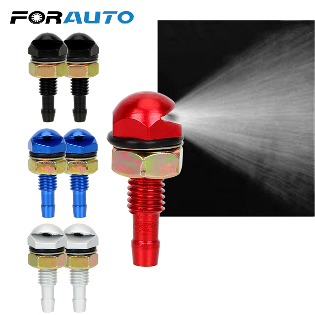 FORAUTO 2Pcs Front Windshield Water Sprayer Auto Wiper Jet Car Cleaning Fan-Shaped Car Accessorie Universal Bonnet Washer Nozzle