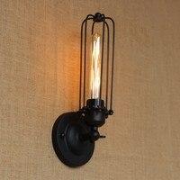 Loft industrial Português estilo mini Vintage antique black Metal Wall Light Sconce da lâmpada Ajustável Lâmpada Luminárias para sala de trabalho
